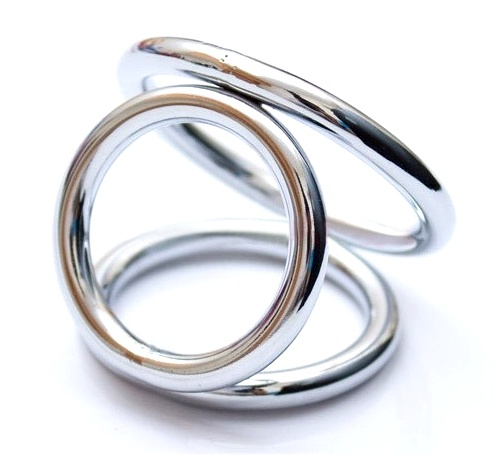 3 Way Metal Cock Ring