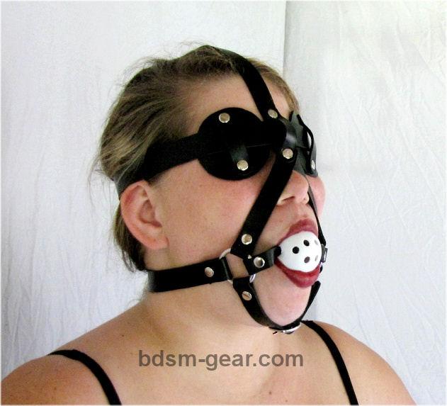 Ball Gag / Disc Blindfold Combo