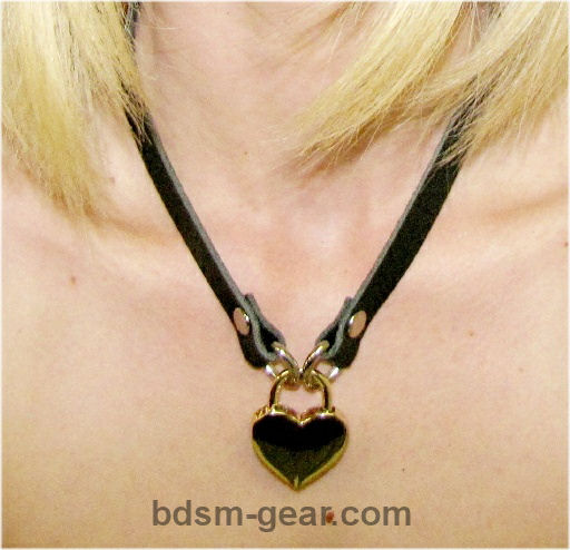 Brass Heart Shaped Pad Lock