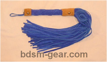 leather and suede bdsm floggers