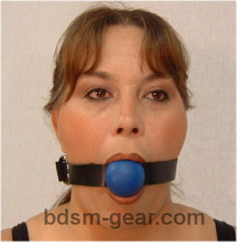 Blue Rubber Ball Gags
