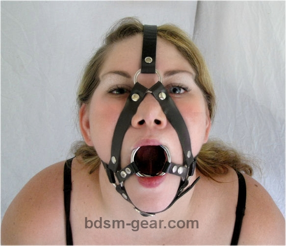 Double Ring Gag with Harness