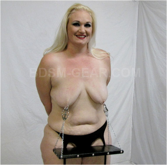 Bdsm slaves with nipple clamps