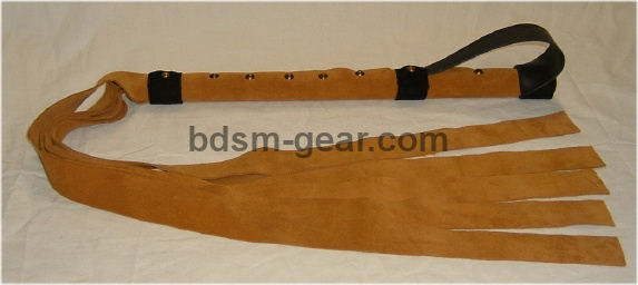 leather and suede Gorean floggers