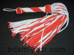 two tone suede leather floggers bondage fetish bdsm
