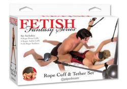 bondage restraint adult bdsm cuff tether