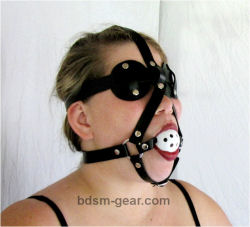 Ball Gag / Disc Blindfold Combo