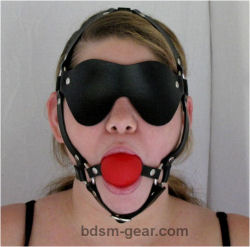 Red Gag / Blindfold Combo