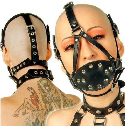 Cock Gag with Pad and Harness