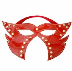 Large Red Party Mask