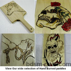 Hand Burned Wooden Paddles