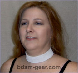 suede leather victorian choker submissive or slave collar