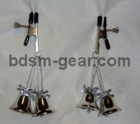 christmas bell nipple clamps