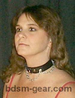 formal dress chain collar for human submissive and slave bondage bdsm fetish gothic gorean and punk
