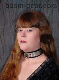 Leather bdsm formal dress bondage collar