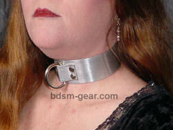 aluminum metal bondage collar for human submissive and slave bondage bdsm fetish gothic gorean and punk