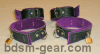 leather bondage cuffs spreaders binders and bdsm gear
