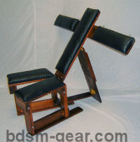 portable deluxe wood and leather bondage chair