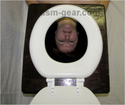 Bdsm toilet throne can