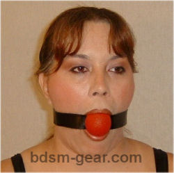 Black Blue and Red Rubber Ball Gags