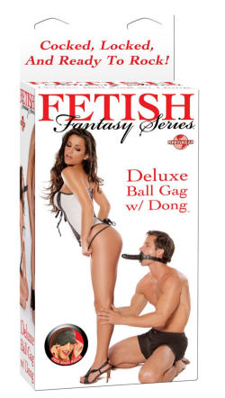 Dong and ball gag adult sex store