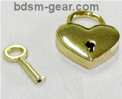Brass Heart Shaped Pad Lock