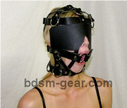 Head Harness with Gag and Blindfold
