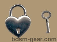 Heart Shaped Padlocks collar locks