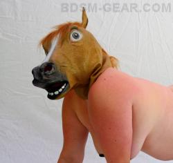 Latex Pony Hood