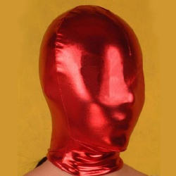 Solid Red Latex Hood