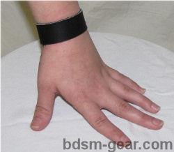 leather bracelet for bdsm fetish gothic gorean submissive and slave bondage