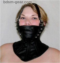 Extreme Bondage Neck Corset with Muzzle and Head Harness