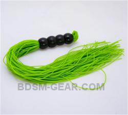 Neon Green Rubber Mini Flogger