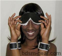 white or black Rabbit Lined Blindfolds