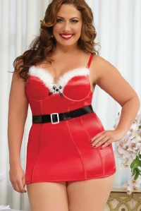 Plus Size Santa Dress