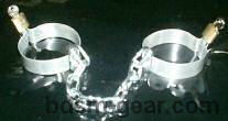 medieval dungeon metal shackles for ankles or wrists bondage bdsm fetish gothic gorean submissive and slave