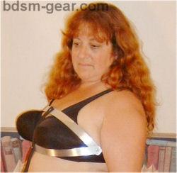 breast torture vise or device for bdsm sadist fetish gothic gorean submissive and slave bondage