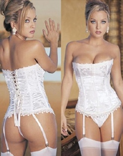 White rear lace Corset