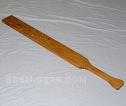 36 inch Wooden Paddle with Holes