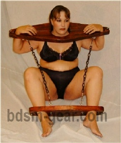 wood dungeon slave yoke hobbler bdsm fetish gothic gorean submissive bondage